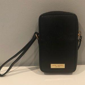 Henri Bendel - Black Leather Wristlet
